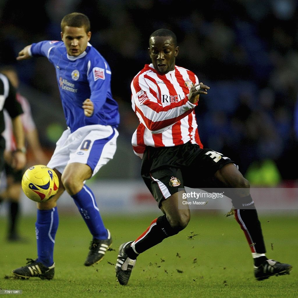 Dwight Yorke of Sunderland in action during the Coca Cola Championship match between Leicester City and Sunderland at the Walkers Stadium on January 1, 2007, in Leicester, England