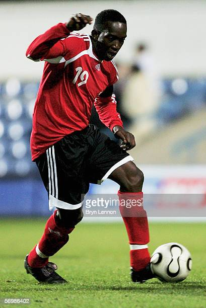 Dwight Yorke of Trinidad and Tobago in action during the International Friendly between Trindad & Tobago and Iceland at Loftus Road on February 28,...