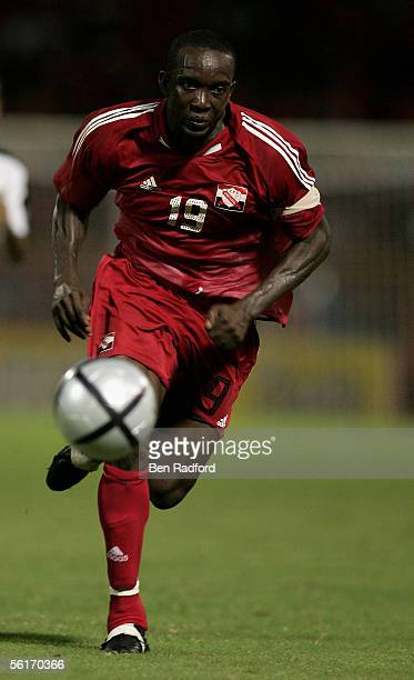 Dwight Yorke of Trinidad during the FIFA World Cup Playoff, 1st Leg match between Trinidad and Tobago and Bahrain at The Hasely Crawford Stadium on...