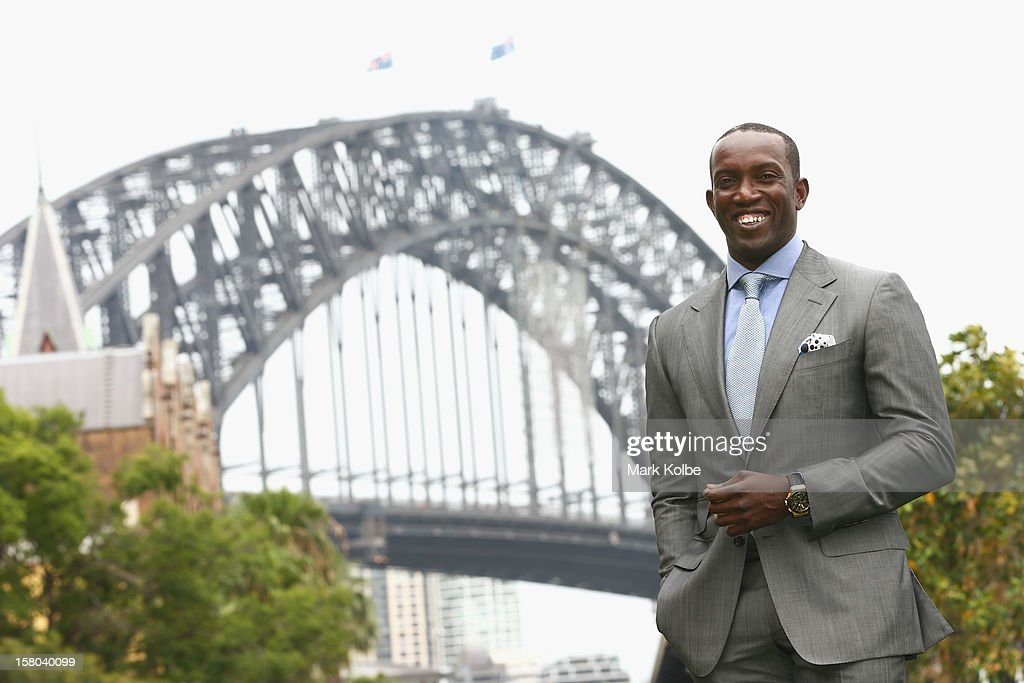 Dwight Yorke poses after a press conference at Museum of Contemporary Art on December 10, 2012 in Sydney, Australia. Manchester United will play an A-League All-Stars match in Sydney on July 20, 2013.