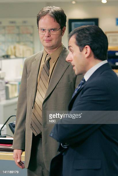 THE OFFICE Dwight's Speech Episode 17 Aired Pictured Rainn Wilson as Dwight Schrute and Steve Carell as Michael Scott Photo by Chris Haston/NBCU...