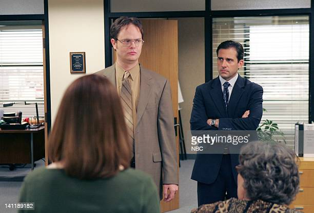 THE OFFICE Dwight's Speech Episode 17 Aired Pictured Rainn Wilson as Dwight Schrute and Steve Carell as Michael Scott and Steve Carell as Michael...