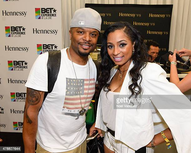 Wrek and Karlie Redd attend the official BET Experience gifting suite sponsored by Hennessy at Los Angeles Convention Center on June 27 2015 in Los...