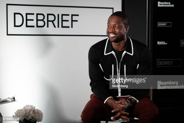 Dwyane Wade a professional basketball player with the National Basketball Association's Miami Heat speaks during a Bloomberg Businessweek Debrief...