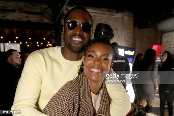 Dwyane Wade and Gabrielle Union attend Stance Spades At NBA All-Star 2020 at City Hall on February 15, 2020 in Chicago, Illinois.