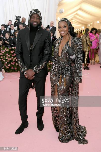 Dwyane Wade and Gabrielle Union attends The 2019 Met Gala Celebrating Camp Notes on Fashion at Metropolitan Museum of Art on May 06 2019 in New York...