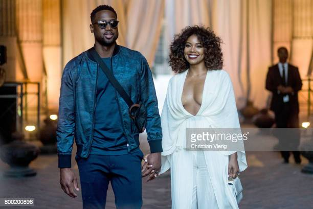 Dwyane Wade and Gabrielle Union outside Berluti during Paris Fashion Week Menswear Spring/Summer 2018 on June 23 2017 in Paris France