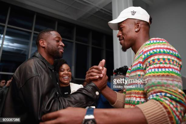 Dwyane Wade and Jimmy Butler are seen at Stance Spades Tournament during NBA AllStar Weekend on February 18 2018 in Los Angeles California