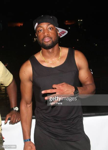 Dwyane Wade attends D'USSE VIP Riser at On The Run Tour at Sunlife Stadium on June 25 2014 in Miami Florida
