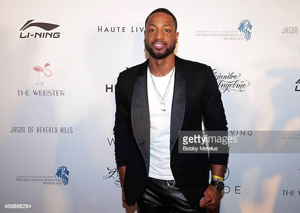 Dwyane Wade attends Haute Living and The Webster event hosted by Dwyane Wade and footwear desinger Alejandro Ingelmo during Art Basel at RitzCarlton...