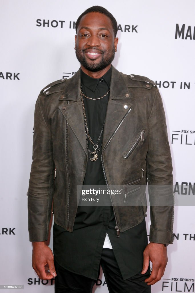 Dwyane Wade attends Magnify and Fox Sports Films' 'Shot In The Dark' premiere documentary screening and panel discussion at Pacific Design Center on February 15, 2018 in West Hollywood, California.