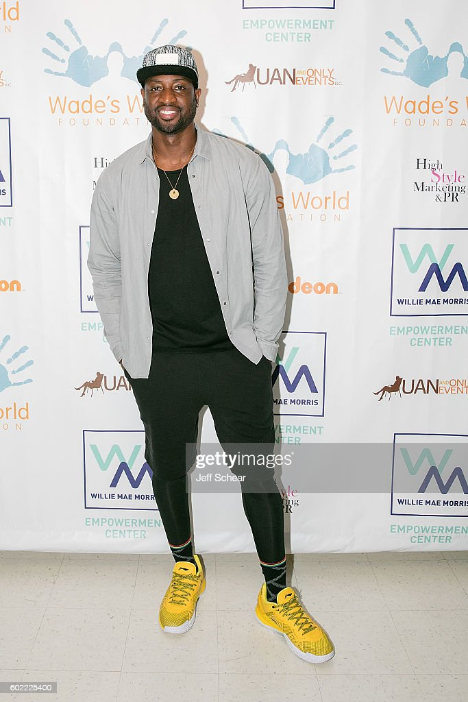Dwyane Wade attends Nickelodeon's Road To Worldwide Day of Play With Dwyane Wade at Willie Mae Morris Empowerment Center on September 10, 2016 in Chicago, Illinois.