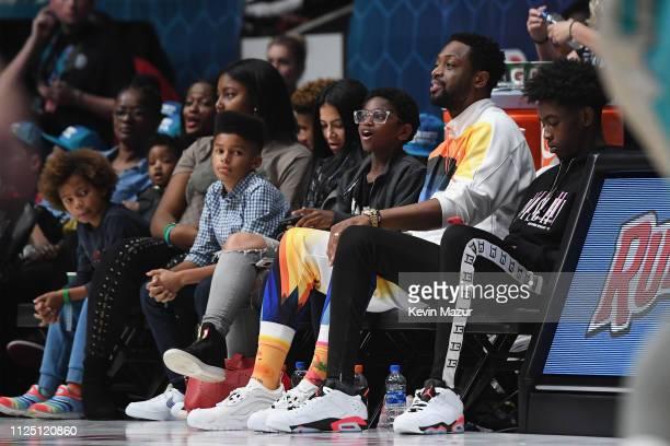 Dwyane Wade attends the 2019 NBA AllStar Celebrity Game at Bojangles Coliseum on February 16 2019 in Charlotte North Carolina