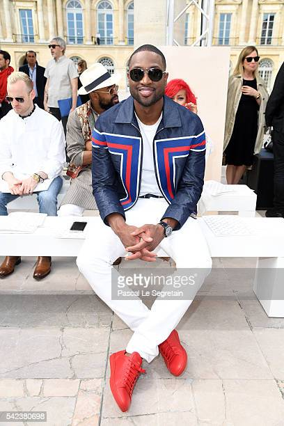 Dwyane Wade attends the Louis Vuitton Menswear Spring/Summer 2017 show as part of Paris Fashion Week on June 23 2016 in Paris France