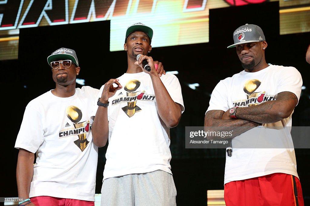 Miami Heat 2012 NBA Championship Celebration : News Photo