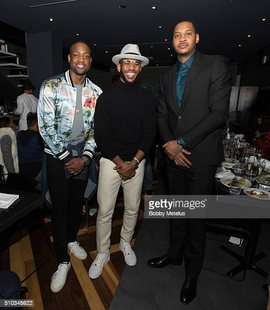 Dwyane Wade, Chris Paul and Carmelo Anthony during The Gentleman's Supper Club hosted by Chris Paul, Dwyane Wade and Carmelo Anthony honoring Kobe...