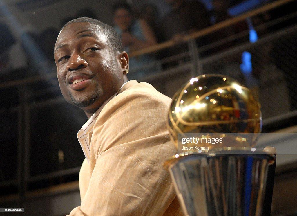 Dwyane Wade during NBA Finals MVP Dwyane Wade In-Store