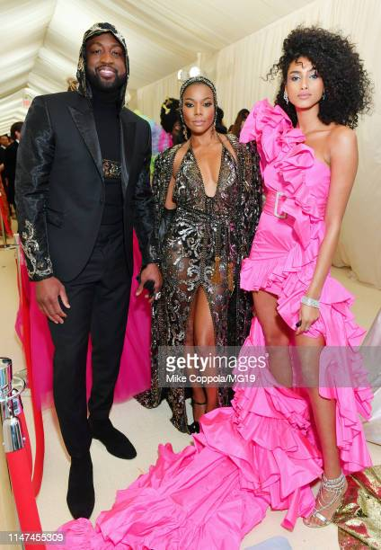 Dwyane Wade Gabrielle Union and Imaan Hammam attend The 2019 Met Gala Celebrating Camp Notes on Fashion at Metropolitan Museum of Art on May 06 2019...