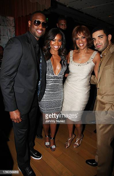 Dwyane Wade Gabrielle Union Gayle King and Drake attend the 5th Annual Two Kings Dinner at Craft on February 19 2011 in Century City California