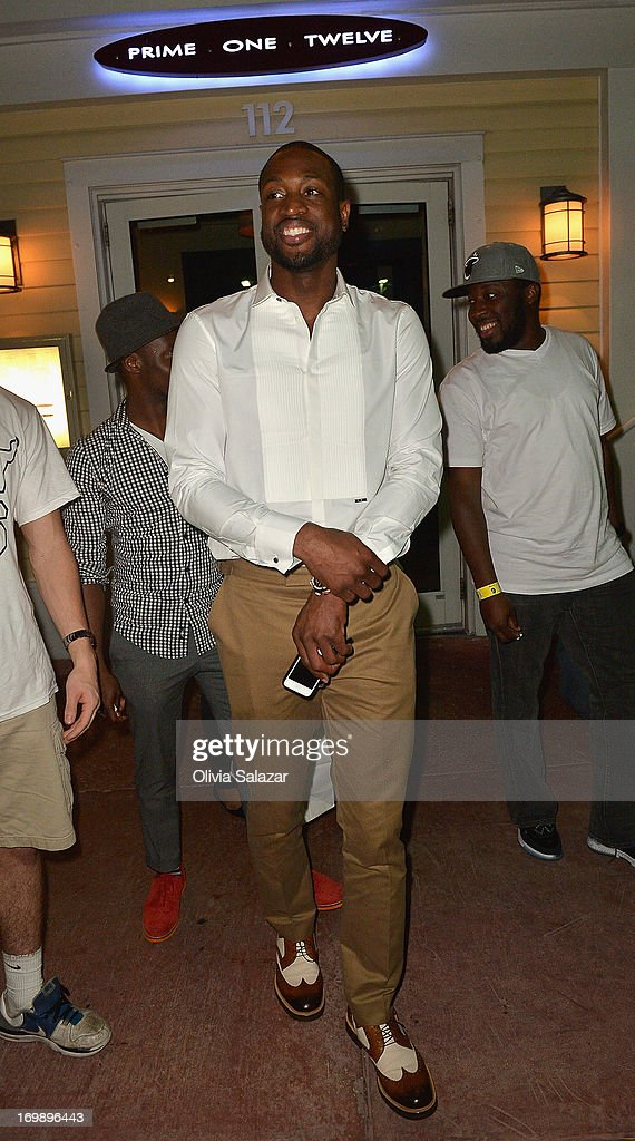 Dwyane Wade is sighted at Prime 112 Steakhouse on June 3, 2013 in Miami Beach, Florida.
