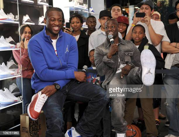 Dwyane Wade made a special appearance and participated in a QA session alongside 'Dominate Another Day' costar Kevin Hart on February 17 2011 in...
