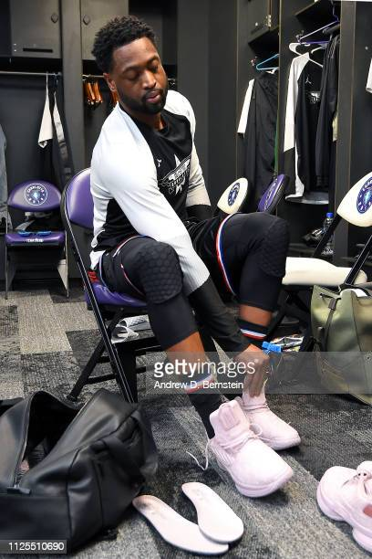 Dwyane Wade of Team LeBron gets ready before the 2019 NBA AllStar Game on February 17 2019 at the Spectrum Center in Charlotte North Carolina NOTE TO...