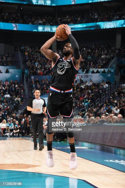 Dwyane Wade of Team LeBron shoots the ball against Team Giannis during the 2019 NBA AllStar Game on February 17 2019 at the Spectrum Center in...