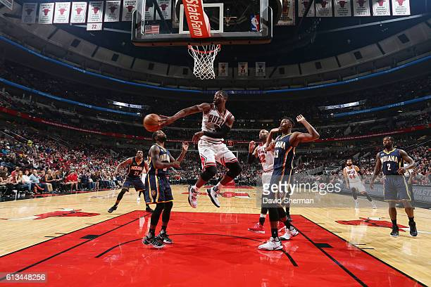 Dwyane Wade of the Chicago Bulls passes the ball against the Indiana Pacers on October 8 2016 at the United Center in Chicago Illinois NOTE TO USER...