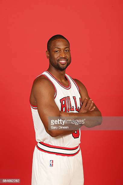 Dwyane Wade of the Chicago Bulls poses for a portrait after a press conference on July 29 2016 at the Advocate Center in Chicago Illinois NOTE TO...