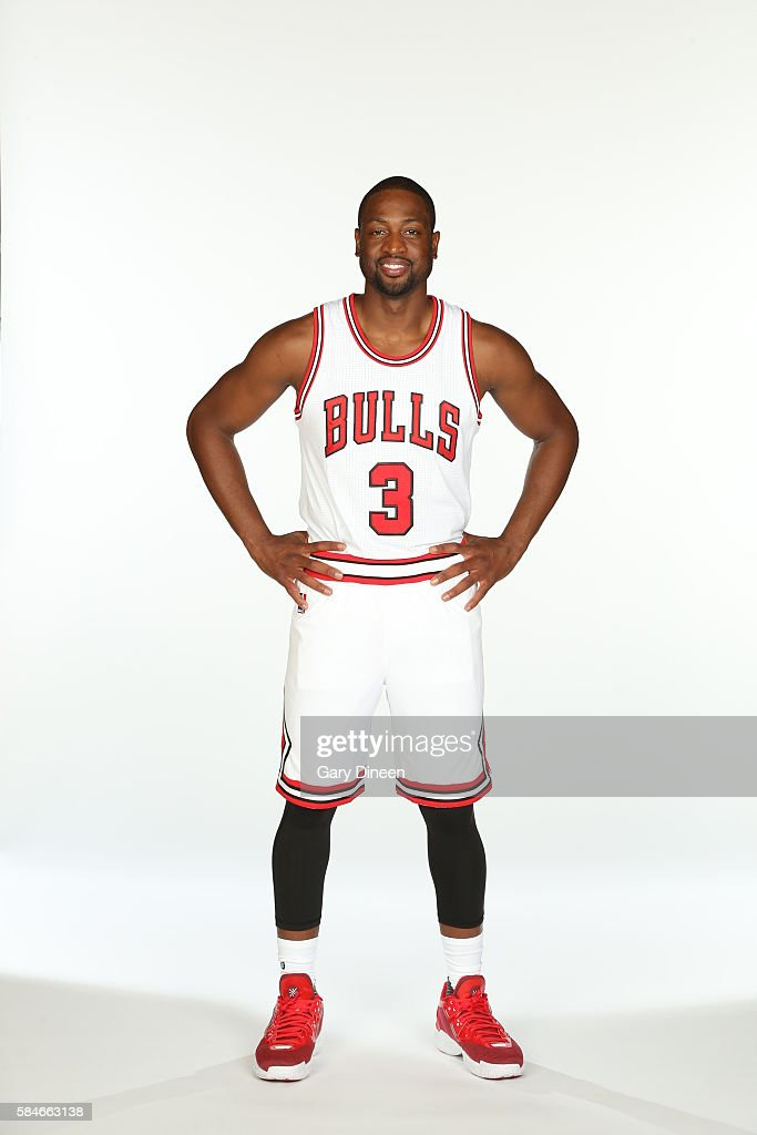 Chicago bulls introduce dwyane wade dwyane wade 3 of the chicago bulls poses for a portrait after a press conference voltagebd Images