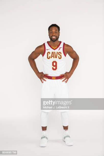 Dwyane Wade of the Cleveland Cavaliers poses for a portrait during Media Day at the Cleveland Clinic Courts on September 25 2017 in Cleveland Ohio...