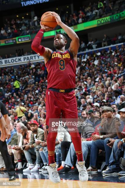 Dwyane Wade of the Cleveland Cavaliers shoots the ball against the New Orleans Pelicans on October 28 2017 at the Smoothie King Center in New Orleans...