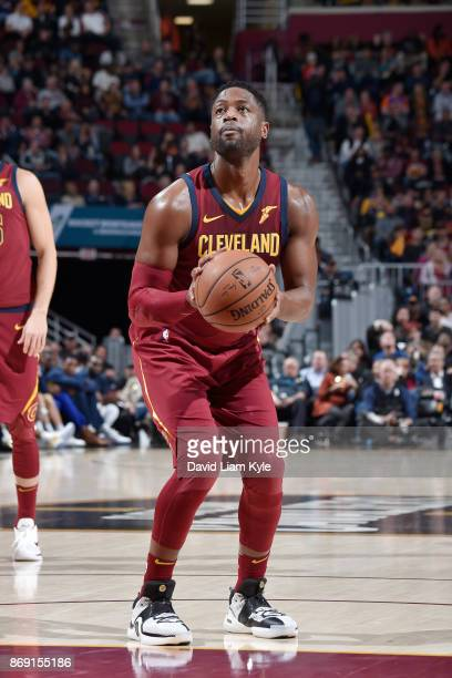 Dwyane Wade of the Cleveland Cavaliers shoots the ball against the Indiana Pacers on November 1 2017 at Quicken Loans Arena in Cleveland Ohio NOTE TO...
