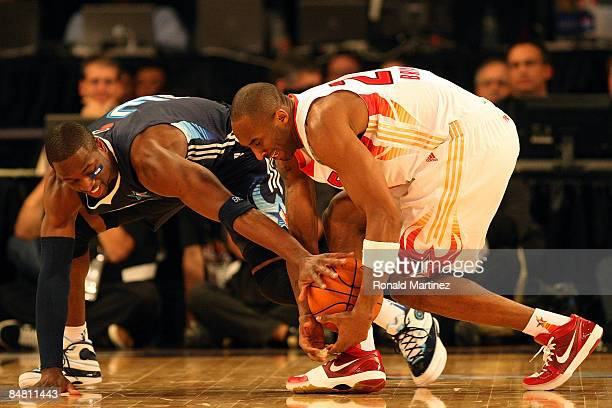 Dwyane Wade of the Eastern Conference and Kobe Bryant of the Western Conference got after a loose ball during the 58th NBA AllStar Game part of 2009...