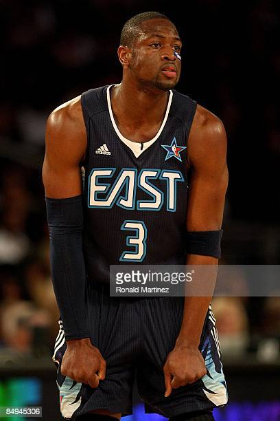 Dwyane Wade of the Eastern Conference looks across the court during the 58th NBA AllStar Game part of 2009 NBA AllStar Weekend at US Airways Center...