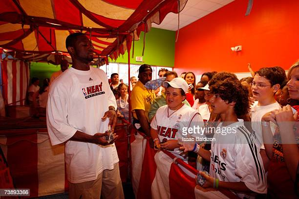 Dwyane Wade of the Miami Heat attends the 2007 Family Festival on April 15 2007 at Watson Island in Miami Florida NOTE TO USER User expressly...