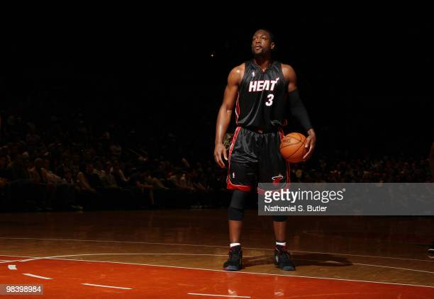 Dwyane Wade of the Miami Heat during game against the New York Knicks on April 11 2010 at Madison Square Garden in New York City NOTE TO USER User...