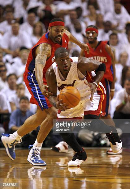 Dwyane Wade of the Miami Heat in action against the Detroit Pistons in Game 7 of the Eastern Conference Finals at American Airlines Arena in Miami...