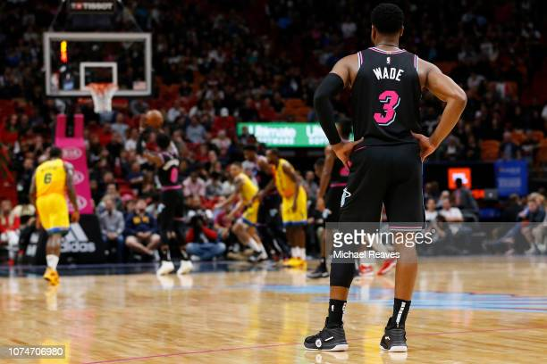 Dwyane Wade of the Miami Heat in action against the Milwaukee Bucks at American Airlines Arena on December 22 2018 in Miami Florida NOTE TO USER User...
