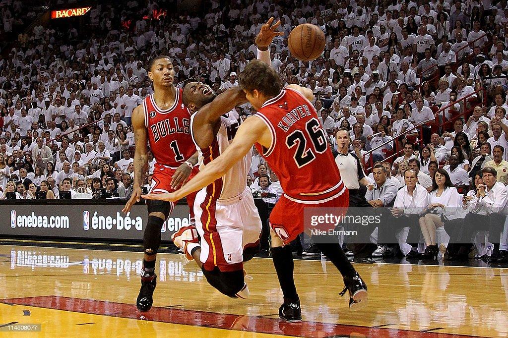Chicago Bulls v Miami Heat - Game Three : News Photo