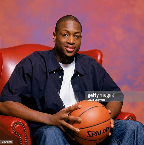 Dwyane Wade of the Miami Heat poses for a portrait during the 2004 NBA AllStar Weekend on February 13 2004 at Staples Center in Los Angeles...