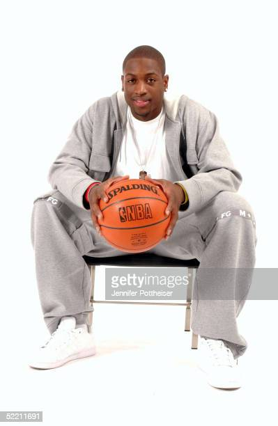 Dwyane Wade of the Miami Heat poses for a portrait during the 2005 NBA AllStar Media Availabilty at the Westin Hotel on February 17 2005 in Denver...