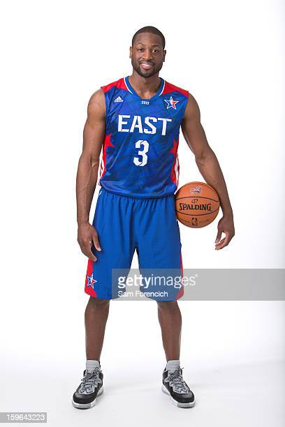 Dwyane Wade of the Miami Heat poses for a portrait in his 2013 AllStar jersey on January 9 2013 at the Hotel Monaco in Portland Oregon NOTE TO USER...