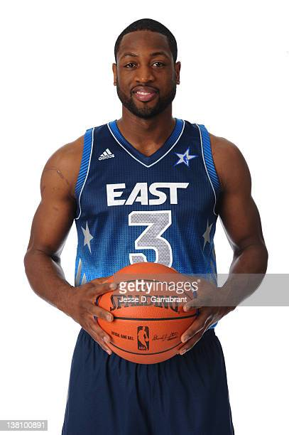 Dwyane Wade of the Miami Heat poses for portraits as being named as a starter for the 2012 NBA AllStar game at the Four Season Hotel on February 2...