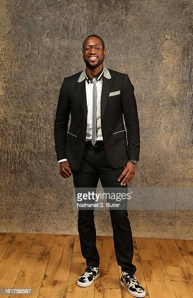 Dwyane Wade of the Miami Heat poses for portraits during the NBAE Circuit as part of 2013 AllStar Weekend at the Hilton Americas Hotel on February 15...