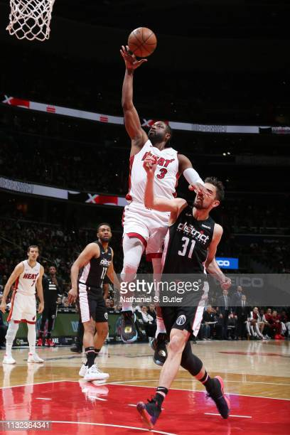 Dwyane Wade of the Miami Heat shoots the ball against the Washington Wizards on March 23 2019 at Capital One Arena in Washington DC NOTE TO USER User...