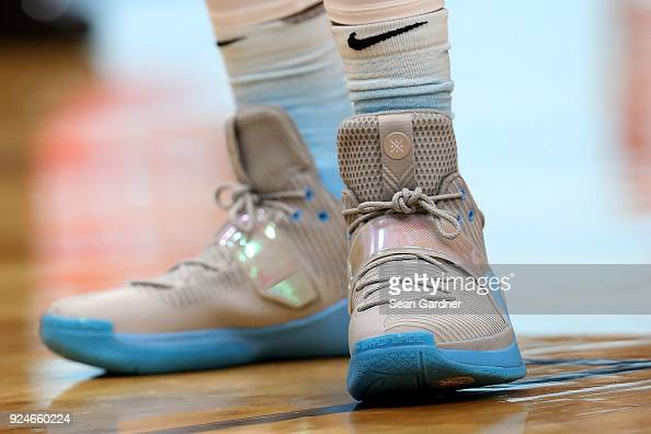 Dwyane Wade Of The Miami Heat Wears A Pair Of Nike Shoes During A Nba News Photo Getty Images