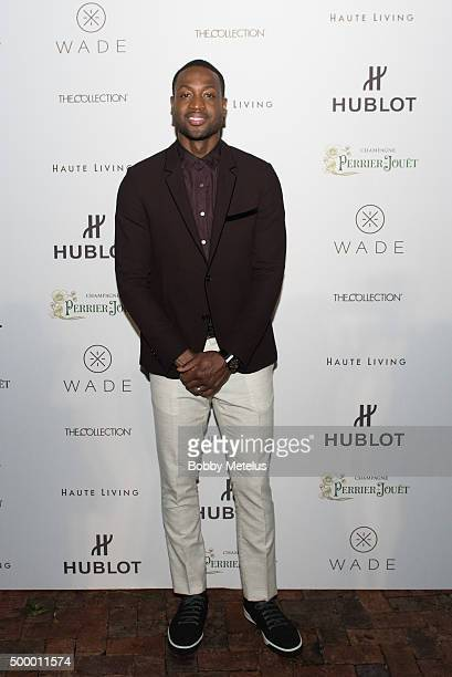 Dwyane Wade on Red Carpet at Hublot Haute Living Toast Art Basel with Private Dinner hosted by Dwyane Wade Gabrielle Union on December 4 2015 in...