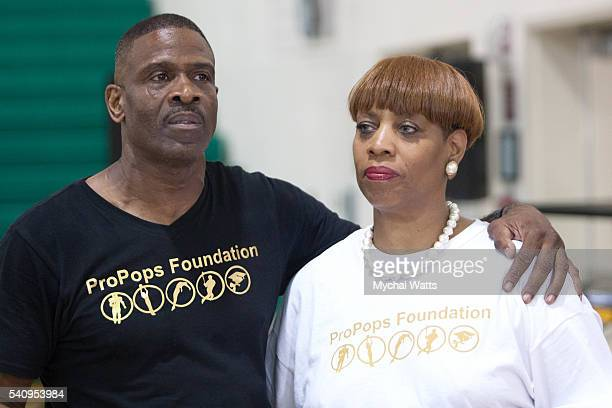 Dwyane Wade Sr and Beverly Kees attends Propops Foundation Fathers Day Weekend on June 18 2016 in Miami Florida