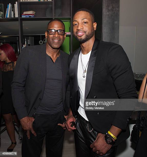 Dwyane Wade Sr and Dwyane Wade attend Haute Living and The Webster event hosted by Dwyane Wade and footwear desinger Alejandro Ingelmo during Art...
